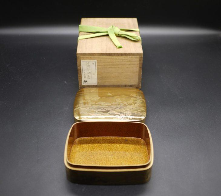 梨地時代蒔絵の小箱をお買取り