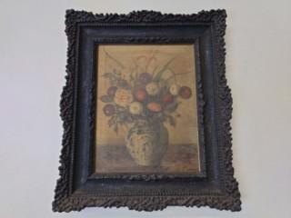青木大乗 画『花』をお買取り致しました。