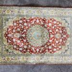 『ペルシャ絨毯 クム産 シルク100% 玄関マット』をお買取り致しました