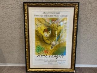 マルク・シャガール 『サイン入りポスター』 買取致しました。