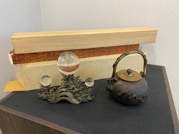 出張買取 『茶道具、掛軸、置物一式』を買取致しました。