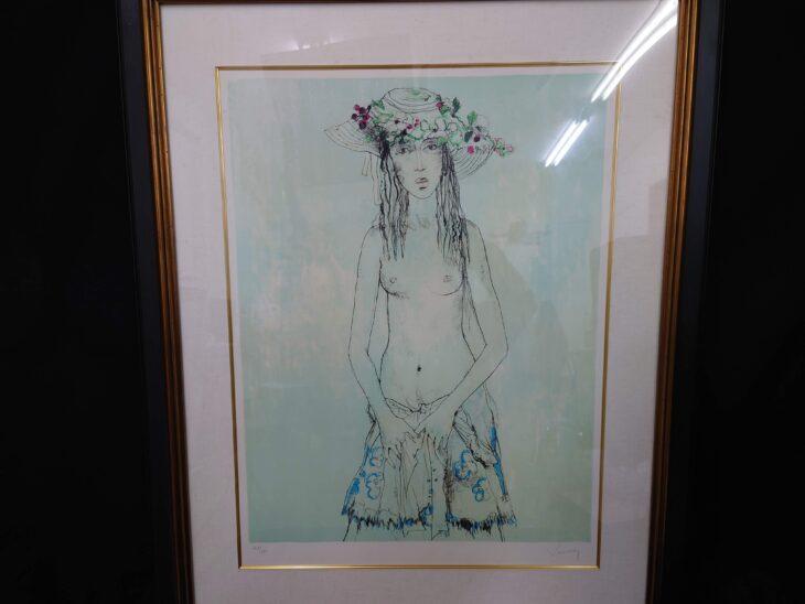 ジャン・ジャンセン 作 『花飾りの少女』お買取り致しました