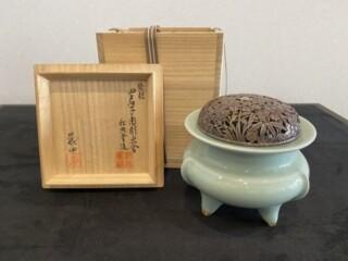 諏訪蘇山 青瓷香炉