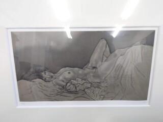 加山又造 リトグラフ「ガウンの裸婦」