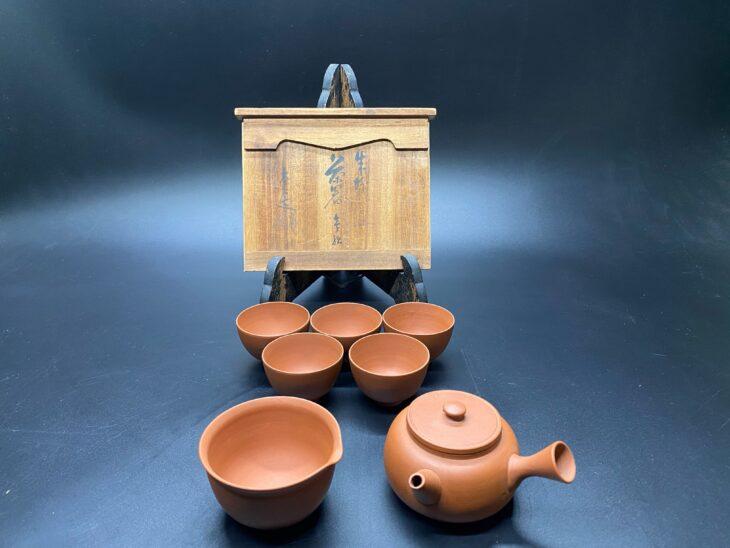 山田常山作 朱泥茶器揃いを買い取らせていただきました